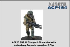 Heavy Infantry w/L30 Carbine & Underslung Grenade Launcher