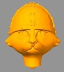 Critter Conversion Kit - Cat, Conical Helmet