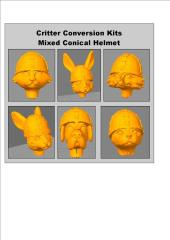 Critter Conversion Kit - Mixed, Conical Helmet