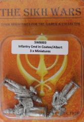 British Infantry Command w/Coatee & Covered Albert Shako