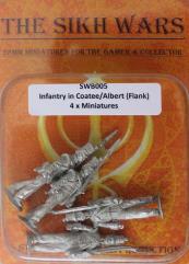 British Infantry w/Coatee & Covered Albert Shako - Flank Company