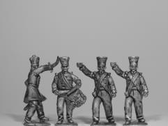 Bengal Native Infantry Command w/Coatee & Bell Top Shako
