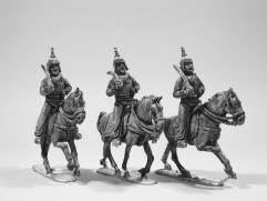 Sikh Cuirassiers - Advancing