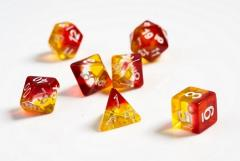 Translucent Yellow and Red w/White (8)