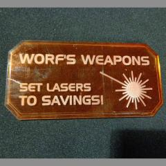Sign H - Worf's Weapons
