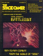 """#59 """"Steve Jackson's Battlesuit Game, 3 Scenarios for Grav Armor"""""""