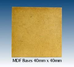 40mm x 40mm Oblong MDF Bases (16)