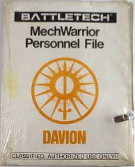 MechWarrior Personnel File - Davion