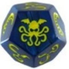 Cthulhu Dice Game - Blue