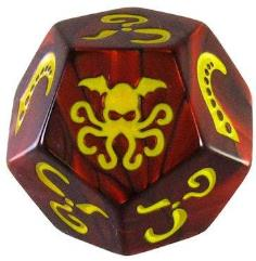 Cthulhu Dice Game - Red w/Yellow