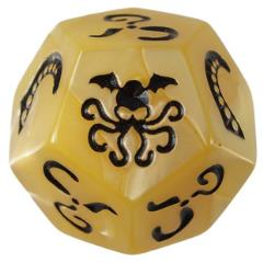 Cthulhu Dice - Pearly Ivory w/Black Ink