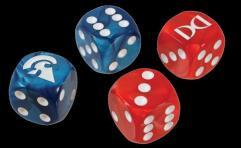 Ogre Dice Set - Red & Blue