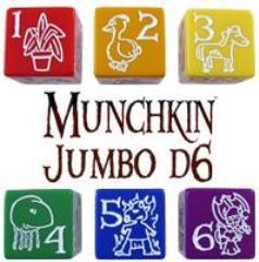 D6 Jumbo Munchkin Dice - Yellow (2)