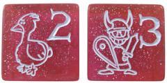 D6 Jumbo Munchkin Dice - Sparkly Pink (2)