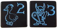 D6 Jumbo Munchkin Dice - Black (2)