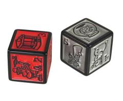 Munchkin Quest Jumbo D6 - Red & Silver