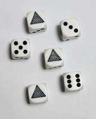 Eye in Pyramid Dice Set - White (6)