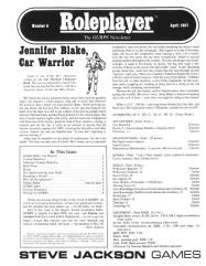 "#5 ""Jennifer Blake - Car Warrior, Combat Modifiers"""