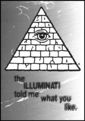 Illuminati Greeting Card