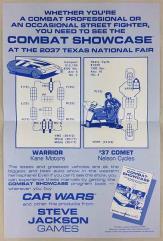 Car Wars Combat Showcase Promo Poster