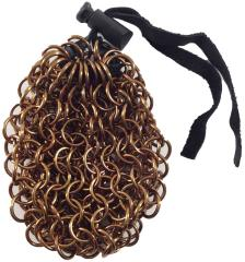 Aluminum Chainmail Dice Bag - Bronze (Small)