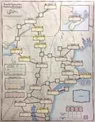 Supply Lines of the American Revolution - Cloth Map