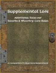 Supplemental Lore