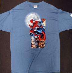 Spider-Man on a Gargoyle T-Shirt (L)