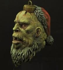 Christmas Zombie Santa Bulb