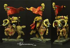 Dwarf Standard on Mountain Ram