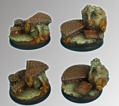 Ancient Ruins - 40mm Round Edge Base #3