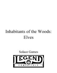 Inhabitants of the Woods - Elves (Legend)