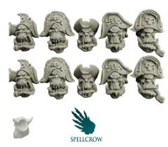 Heads - Freebooters Orcs, Version 1