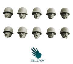 Heads w/M1 Helmets - Blitzkrieg Guards