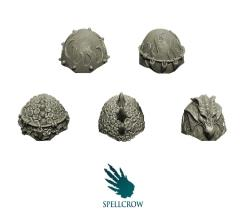 Heavy Shoulder Pads - Salamanders or Dragons Knights