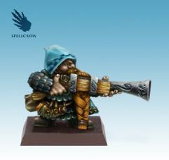 Dwarf w/Big Gun (Resin)