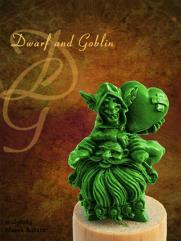 Dwarf w/Goblin (Resin)