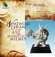 Northern Dwarf w/Axe & Horned Helmet