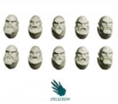 Heads - Space Knights w/Beards