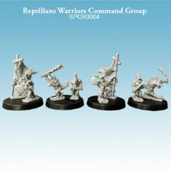 Reptilians - Warriors Command Group (Resin)