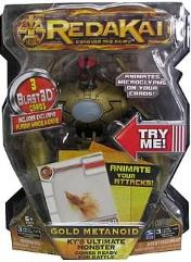 Redakai Deluxe Figure - Gold Metanoid w/Blast3D Cards