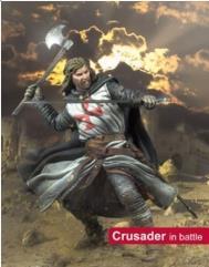 Crusader in Battle