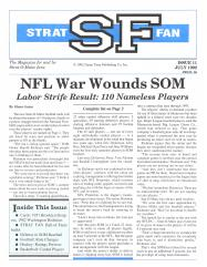 "#11 ""NFL War Wounds SOM, On Triples, Rollings, Oldtimers"""