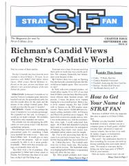 """#1 """"Richman's Candid Views of Strat-O-Matic World, How to Get Your Name in STRAT FAN"""""""