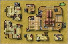 Double-Sided Map - Desert City Invasion, Desert Starport B/Forest Sanctuary