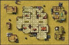 Double-Sided Map - Desert City Invasion, Desert Starport C/Forest Ruins
