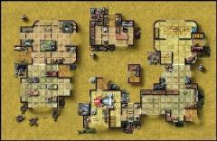 Double-Sided Map - Desert City Invasion, Desert Starport A/Fueling Station