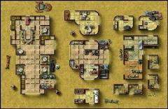 Double-Sided Map - Desert City Invasion, Desert Starport D/Dark Forge