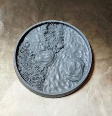 55mm Beveled Base - Asian Garden