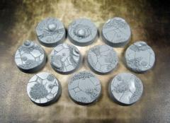 25mm Beveled Bases - Ancient Sands
